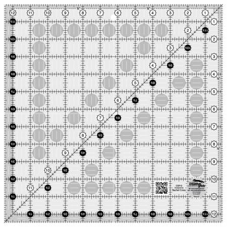Creative Grids Quilt Ruler 12-1/2in Square CGR12