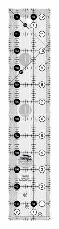 Creative Grids Turn A Round Quilt Ruler 2-1/2 in x 12-1/2 in