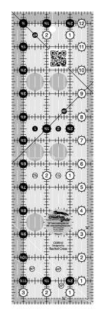Creative Grids - CGR312 Quilt Ruler 3-1/2in x 12-1/2in