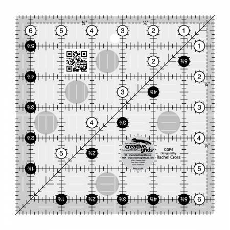 CGR6 6-1/2in Square Creative Grids Quilt Ruler
