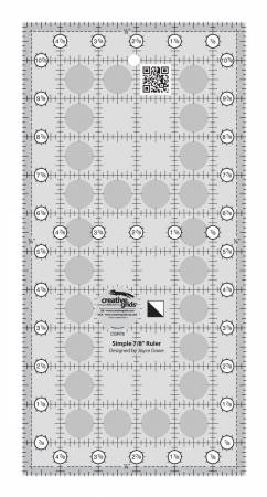 Creative Grids Non-Slip Simple 7/8 Ruler