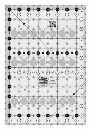 Creative Grids Turn-A-Round Ruler 8-1/2in x 12-1/2in