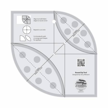Creative Grids Round Up Tool and Quilting Ruler - CGRATK1