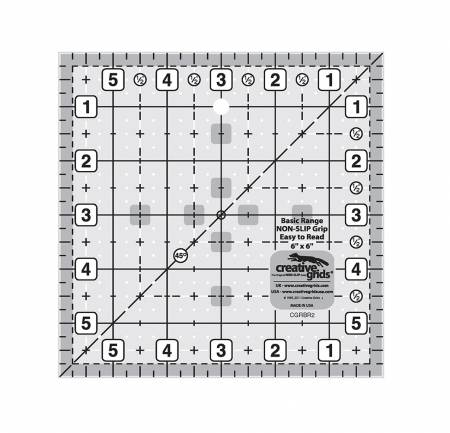 Creative Grids Basic Range 6in Square Quilt Ruler