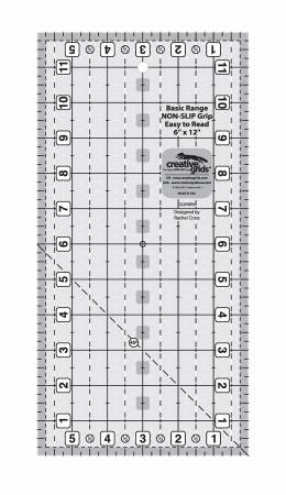 Creative Grids Basic Range 6in x 12in Rectangle Quilt Ruler