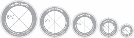 Creative Grids Quilt Ruler Circles (5 Discs with Grips) Quilt Ruler