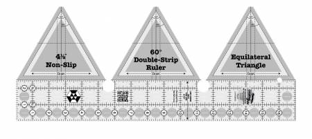Creative Grids 60 Degree Double-Strip Ruler