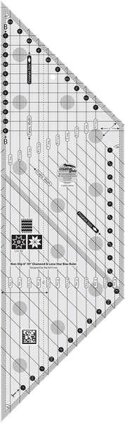 Creative Grids 6in Diamond and Lone Star Bias Ruler