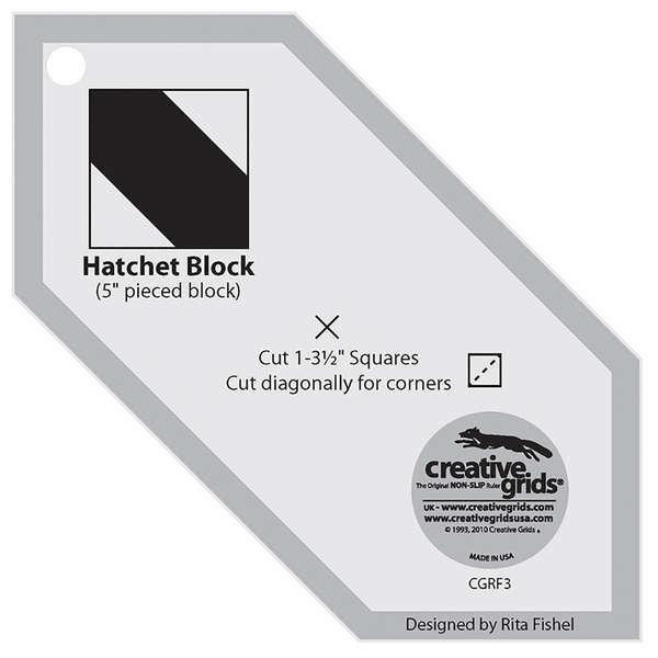Creative Grids Template Hatchet Charming 5 Square