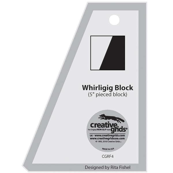 Creative Grids Template Whirligig Charming 5 Square