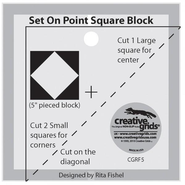 Creative Grids Template Set On Point Charming 5 Square