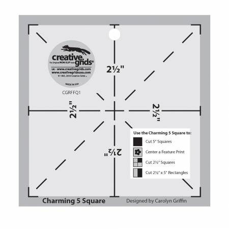 Creative Grids Charming 5in Square Template (formerly item FFQ010)