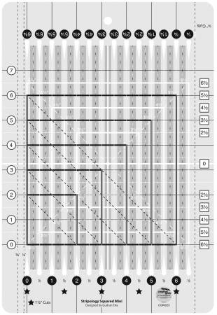 Creative Grids Stripology Mini Quilt Ruler CGRGE3