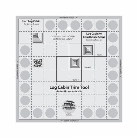 Creative Grids - 8 Log Cabin Trim Tool - for 8in x 8in Finished Blocks