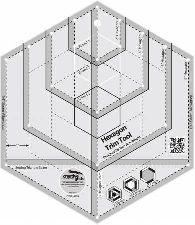 Creative Grids Hexagon Trim Tool 2in 4in 6in 8in With 21 Holes