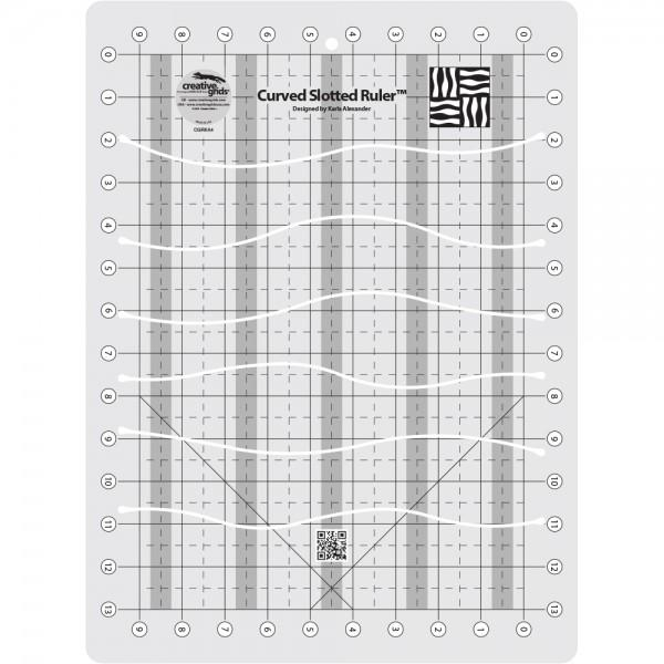 Creative Grids Curved Slotted 11in x 15in Ruler
