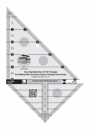 Ruler Creative Grids Multi Size Triangle 45 and 90 Degrees