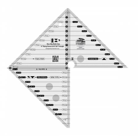 Creative Grids 6in Flying Geese & 45 90 Degree Triangle Ruler