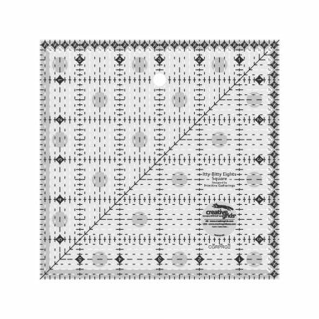 CGRPRG2 Creative Grids Itty-Bitty Eights Square Ruler 6in x 6in