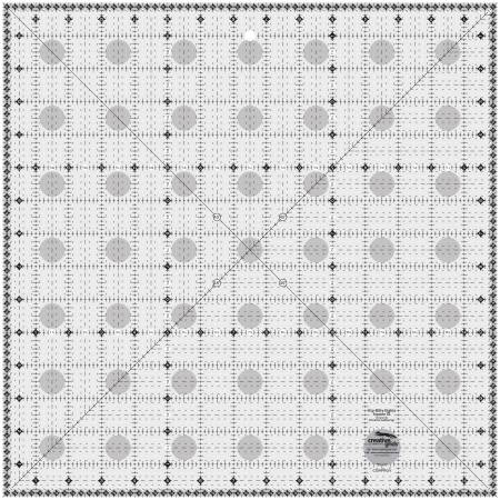 Creative Grids Itty-Bitty Eights Square XL 15in x 15in Quilt Ruler