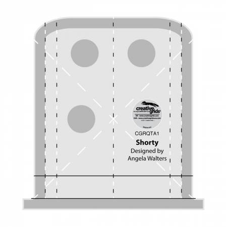 Creative Grids Quilting Ruler- Shorty