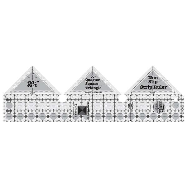 Creative Grids 90 Degree Strip Ruler For Quarter Square Triangles
