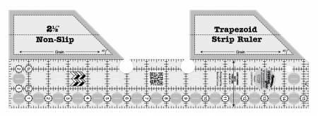 Creative Grids Trapezoid Strip Quilt Ruler 15 1/4in x 5in