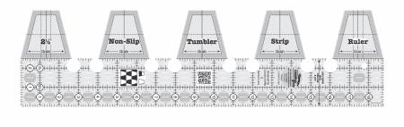 Creative Grids Single Strip Tumbler Quilt Ruler
