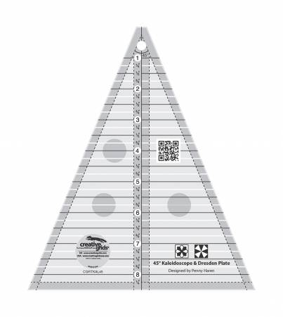 Creative Grids Kaleidoscope or Dresden Plate Triangle Ruler