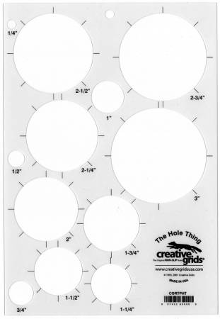 Creative Grids The Hole Thing Template Plastic