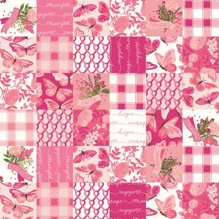 Hope In Bloom Cheater Print Pink