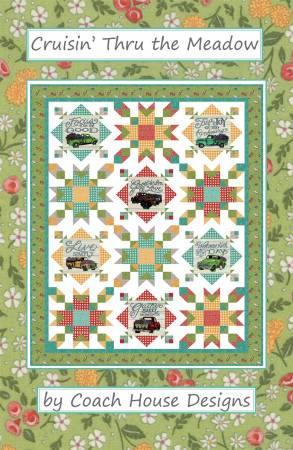 Cruisin' Thru the Meadow Quilt Kit incl Binding