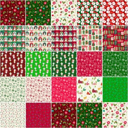 5in Squares Christmas Miniatures, 42pcs/bundle