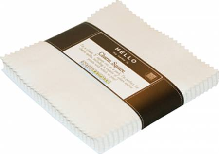 Kona Solids 5 Squares - White 42pcs