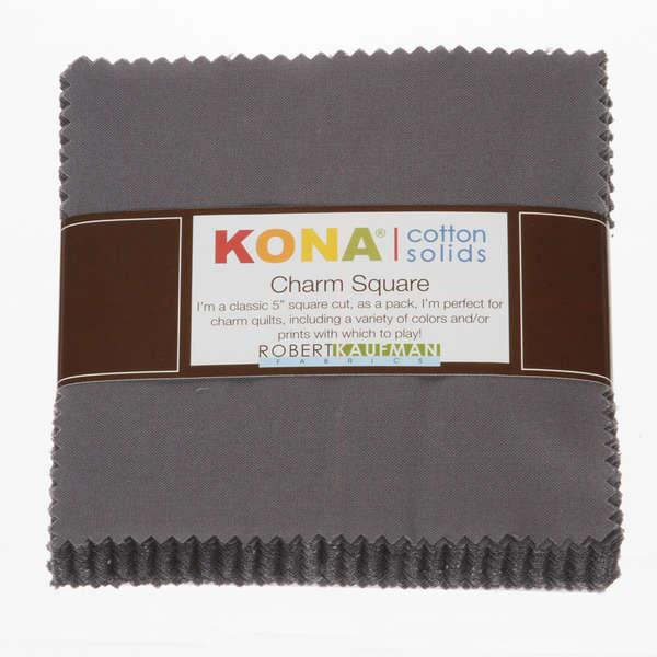 Coal 42 pcs 5in x 5in Kona Solids CHS-204-42