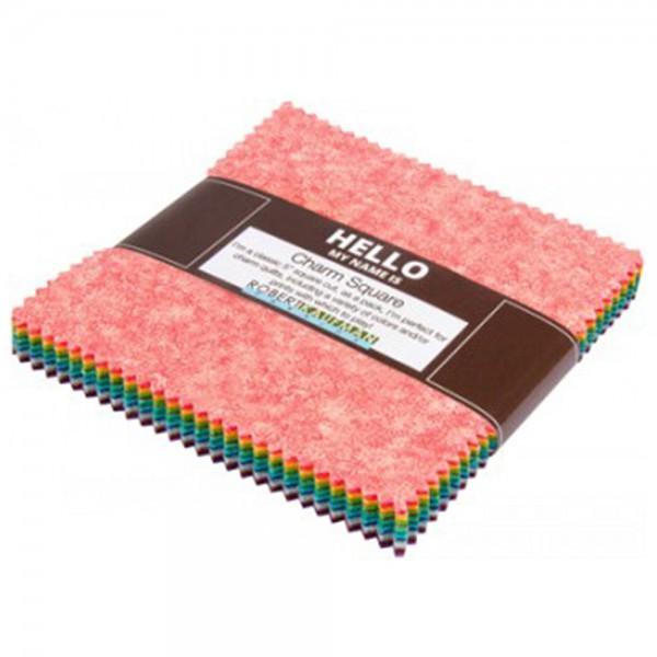 Fusions Meadow 5 inch squares (42 pieces) - Robert Kaufman Fabrics