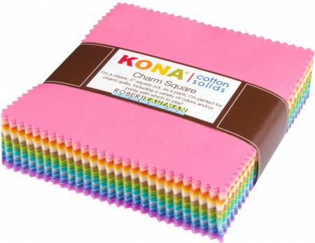 5in Squares Kona Cotton Solids Pastel Colorstory 101pcs