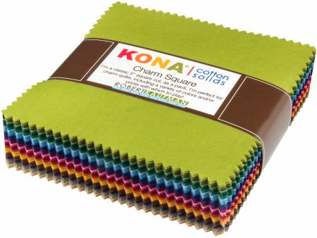5in Squares Kona Cotton Solids Dusty Colorstory 101pcs