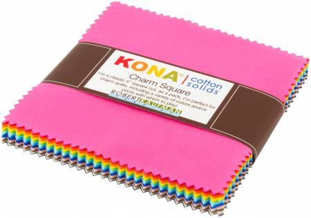 5in Squares Kona Solids New 2017 Colors 42pcs/bundle