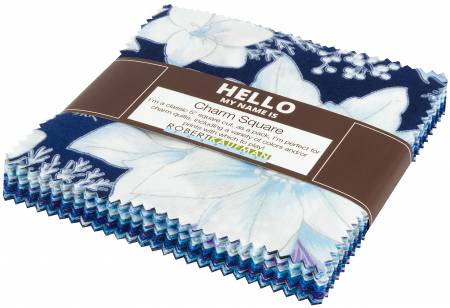 5in Squares Holiday Flourish Peacock 42pc/bundle