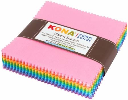 5in Squares Kona Solid Pastel 85pcs/bundle