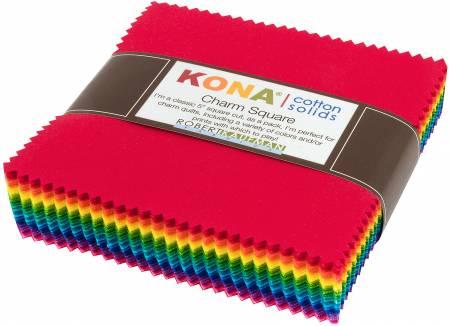 5in Squares Kona Solid Brite 85pcs/bundle
