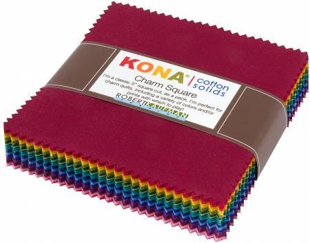 5in Squares Kona Solid Dark 85pcs