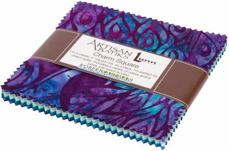5in Squares Fancy Feathers Batik, 42pcs/bundle