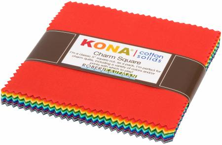 5in Squares Kona Cotton 2019 New Colors, 42pcs/bundle