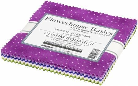 5in Squares Flowerhouse Basics SweetLilac 40pcs/bundle