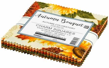 5in Squares, Autumn Bouquet, Autumn 42pcs/bundle