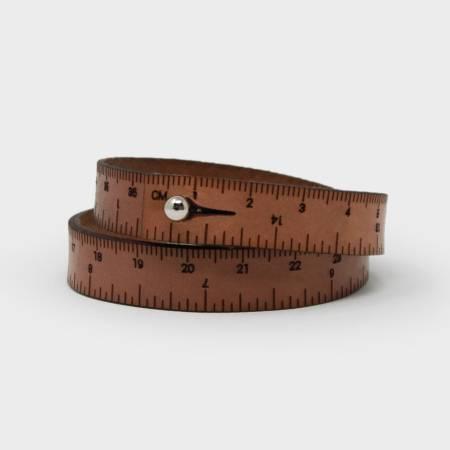 17in Wrist Ruler - Medium Brown