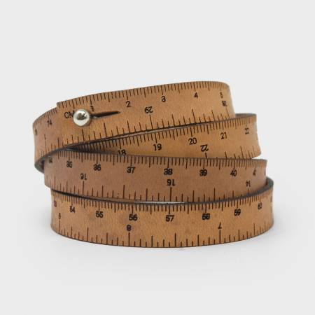 30in Wrist Ruler Bracelet - Medium Brown - by Crossover Industries