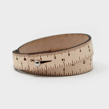 17in Wrist Ruler Bracelet - Natural - by Crossover Industries